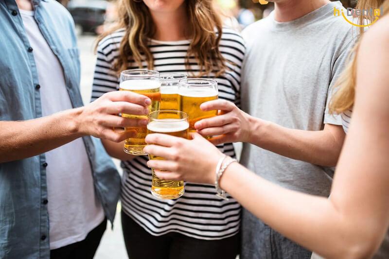 tẩy trắng răng có được uống bia không